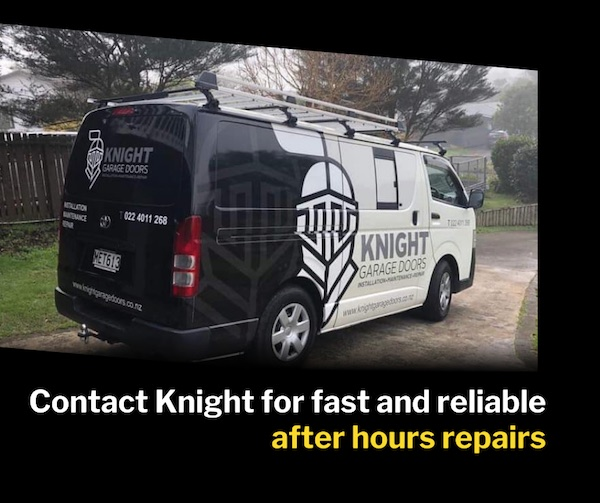 After hours repairs - Knight Garage Doors - Auckland