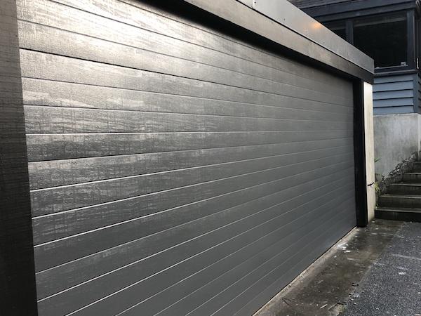 Fineline sectional garage door - Grey Friars