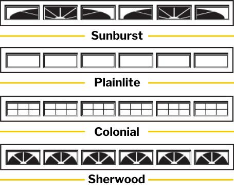 Window options - Sectional garage doors